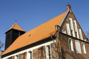 Church in Klewki made of natural Bornholm roof tiles