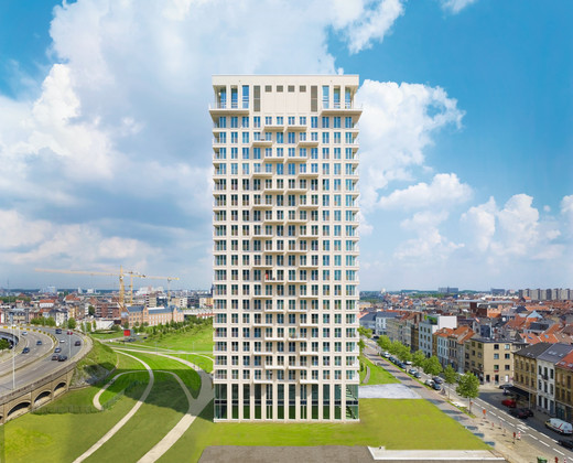 Clinker tower in Antwerp