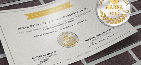 "The Röben brand received the ""Consumer Laurel 2018""!"